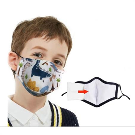 IMSK3LPK - Kids Face Mask W/ Full Color Imprint Cotton Safety Masks