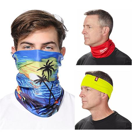 MSKB02FC - Reusable Face Bandana w/ Custom Imprint Dust Protection Mask