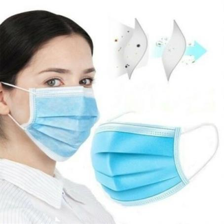 MSKVA03H - IN STOCK USA Disposable 3 Ply Face Mask Antibacterial Masks