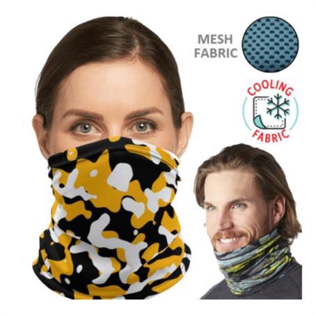 INGCM02FC - Cooling Neck Gaiter W/ Full Color Logo Antibacterial Bandana