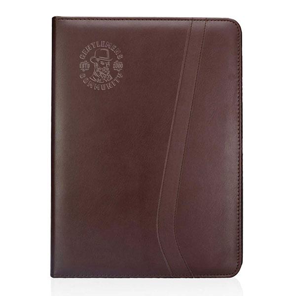 OF-PORT107 - Brown Leatherette Portfolios