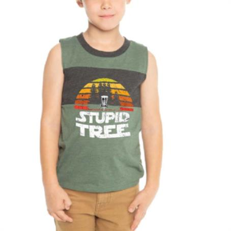 ASDSRK75 - Kids Round Neck Sleeveless T-Shirt W/ Full Color Sublimation