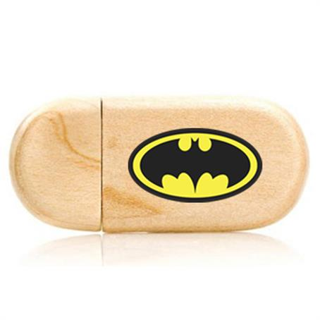 TCH-RWD256 - Round Wooden USB Drives - 256MB