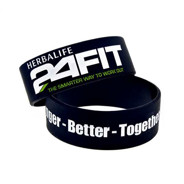 "WCF01 - 1"" Color Filled Wristband"