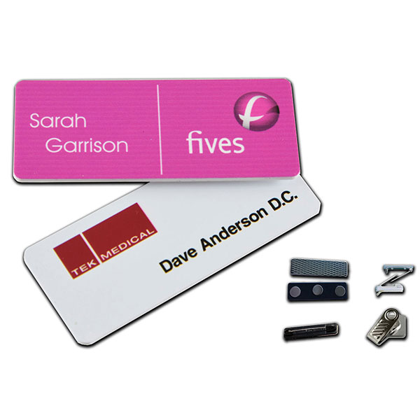 "ID-PDNB1253 - 1.25"" x 3"" Digitally Printed Name Badge"