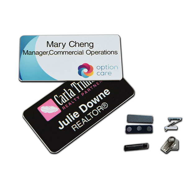 "ID-PDNB153 - 1.5"" x 3"" Digitally Printed Name Badge"