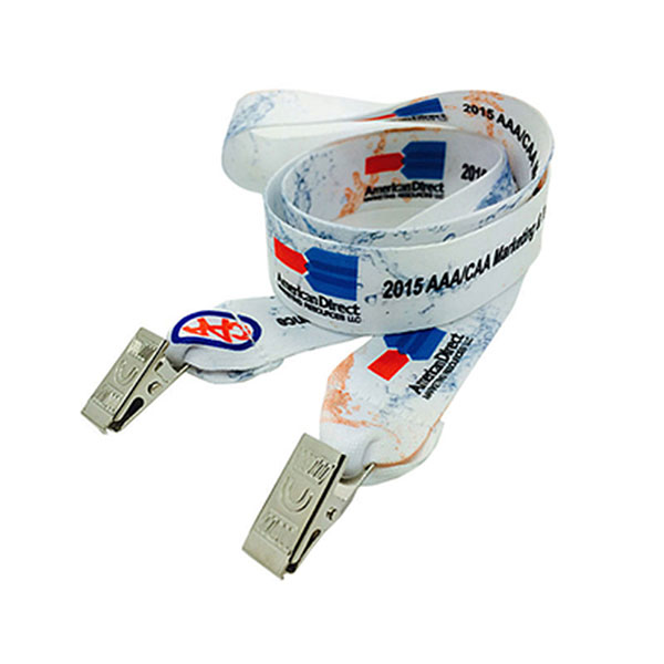 "LAN-DESL12 - 1/2"" Double Ended Dye Sublimation Lanyard"