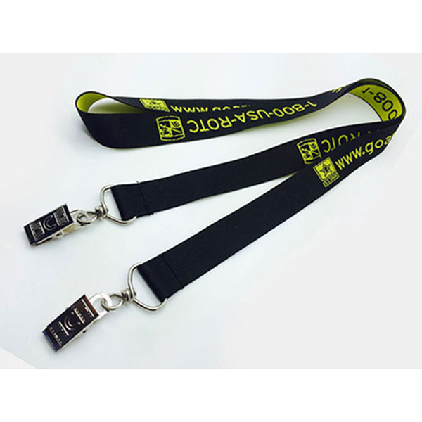 "LAN-DEWL12 - 1/2"" Double Ended Woven Lanyard"