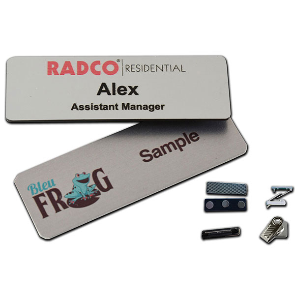 "ID-MNB13 - 1"" x 3"" Metal Name Badge"