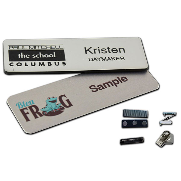 "ID-MNB1253 - 1.25"" x 3"" Metal Name Badge"