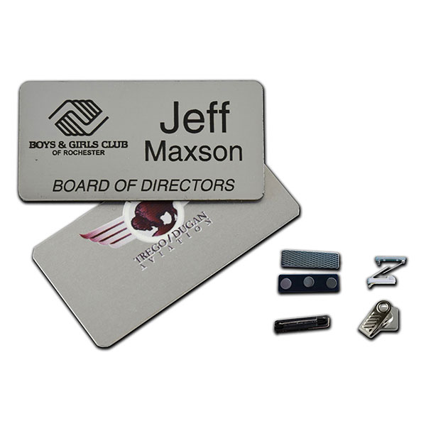 "ID-MNB153 - 1.5"" x 3"" Metal Name Badge"