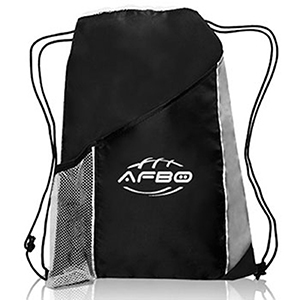Tri-Color Sports Drawstring Bags
