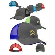 Seneca Two Tone Structured Mesh Trucker Hats