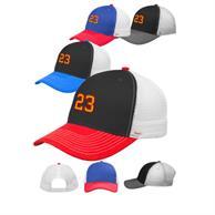 Cameron Snap Back Tri-Color Baseball Caps
