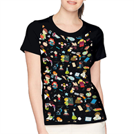 Women's Round Neck T-Shirt w/Edge to Edge Sublimation Tshirt