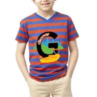 Kids V-Neck T-Shirt w/ Edge to Edge Sublimation Tshirts