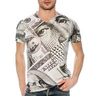 Men's V-Neck T-Shirt w/ Edge to Edge Sublimation Tshirts