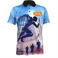 Unisex Sublimation Polo 150 GSM 100% Polyester Performance Polos