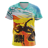 Unisex V-Neck T-Shirts w/ Edge to Edge Sublimation Tshirts