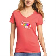 Gildan Full Color V-Neck Women'S Cotton T Shirt