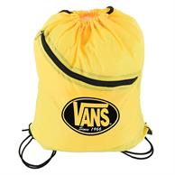 Nylon Drawstring Bag with Front Zipper