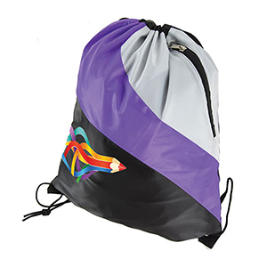 Tri-Color Drawstring Bags