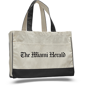 Tote Bag With Contrasting Handles & Trim
