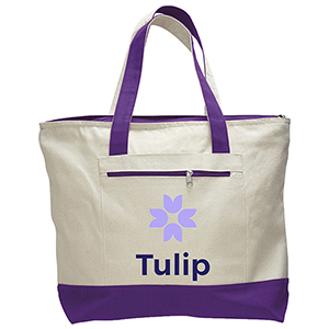 Zipper Cotton Tote