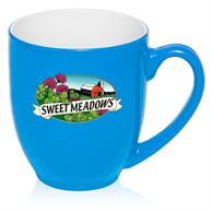 16 oz. Flourescent Bistro Personalized Mugs