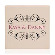 "4"" Square Personalized Ceramic Coasters"