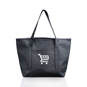 Pocket Heathered Tote Bags