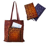 """Grocery Full Color Bags 15""""X 16"""" Cotton Bag w/Front Zip Fold"""