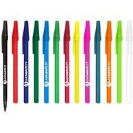 Belfast B Ballpoint Pen Solid Colored Barrel Value stick pen