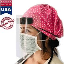 USA Made Safety Face Shields w/ Headbands & Forehead Pad