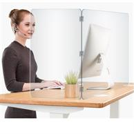 "23.5"" H X 31.5"" W 2-Panel Desk Shield"