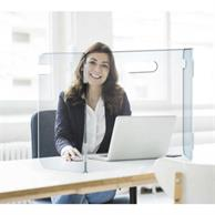 "23.5"" X 23.5"" Portable 3-Panel Desk Shield"