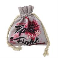 Drawstring Cosmetic 16cmX19cm Cotton Travel Pouch Full Color