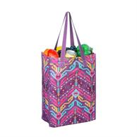"""Grocery Tote Bags 11.5""""x15.5""""x5""""Gusset Full Color Cotton Bag"""