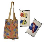 Bottom Zipper Full Color Cotton bags Fold-able Tote Bag