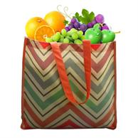 """13""""x 13""""x 5"""" Gusset Cotton Tote Bags Full Color Grocery Bag"""