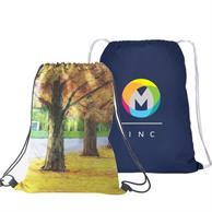 """Travel Cotton Drawstring Gym Backpack 15""""X 18"""" Full Color"""