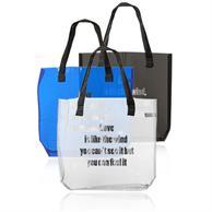 Savanna Clear Plastic Tote Bags