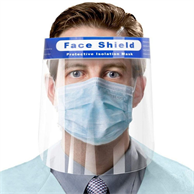 USA Stock Face Shield Disposable Safety Face Cover PET