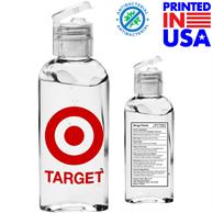 USA Printed 3.4 oz. Hand Sanitizer Gel w/ Custom Logo & Flip Cap
