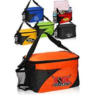 Lunch Bags - Two tone Polyester Lunch Bag w/ Mesh Pocket