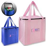 Large Insulated Thermal Lunch Bag w/ Zipper top & Handles