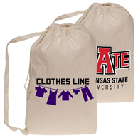 Collegiate Natural Cotton Laundry Bags