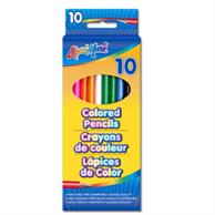 """Set of 10 Colored pencils 7"""" Pre Sharpened"""
