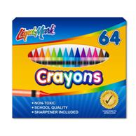 Set of 64 Crayons With Sharpener
