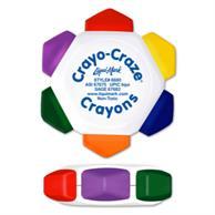 White Craze 6 Color Crayon Wheen
